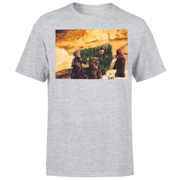 Star Wars Christmas Jawa Tree Grey T-Shirt