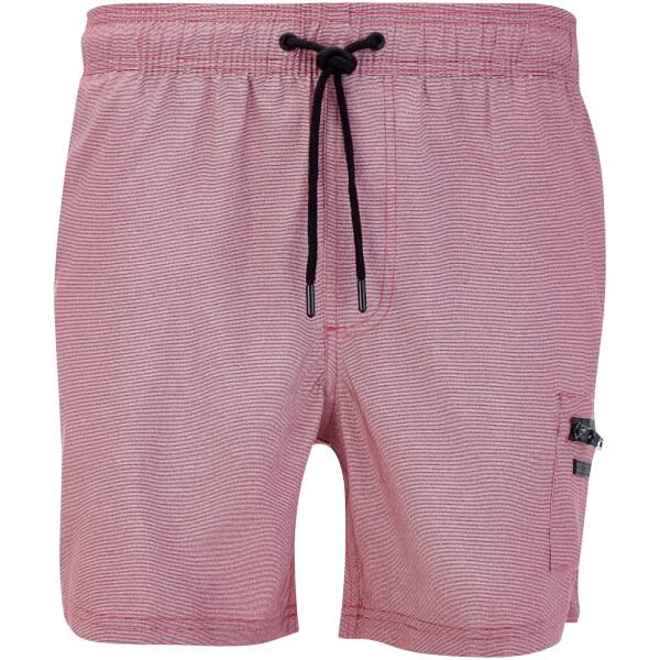 Dissident Men's Vittorino Fine Stripe Swim Shorts - Red