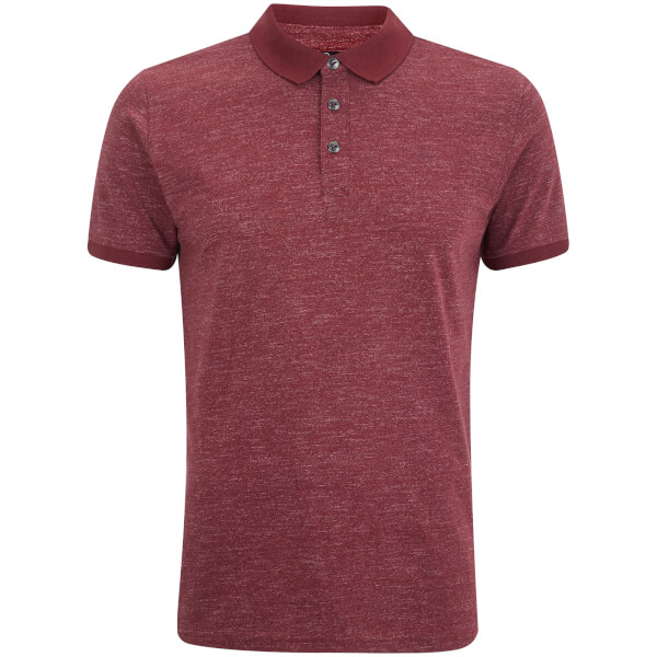 Dissident Men's Dace Textured Polo Shirt - Deep Red