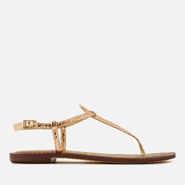 Sam Edelman Women's Gigi Metallic Toe Post Sandals - Rose Gold