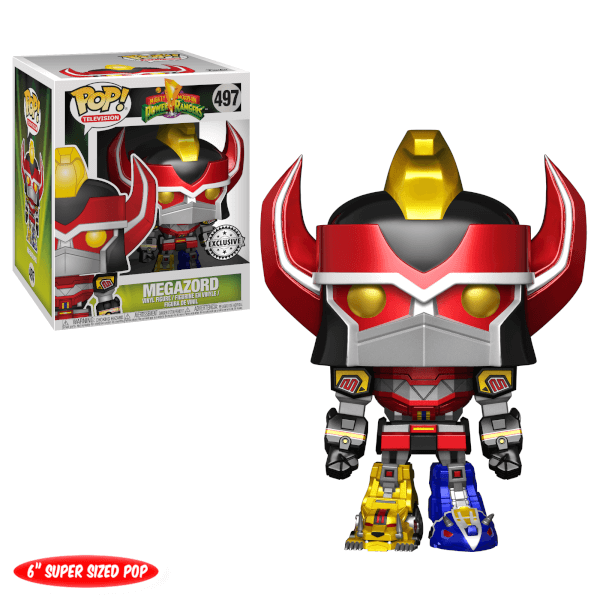 Figurine Pop! Mighty Morphin Power Rangers Mégazord EXC 15 cm Métallique