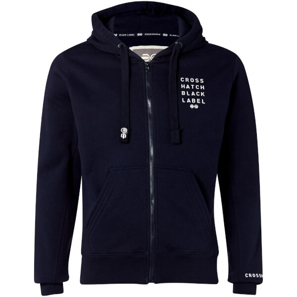 Crosshatch Men's Grampion Zip Through Hoody - Night Sky