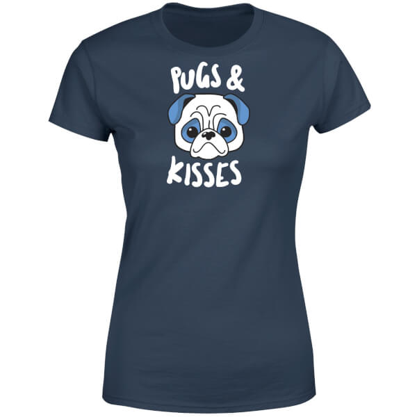 Pugs & Kisses Women's T-Shirt - Navy