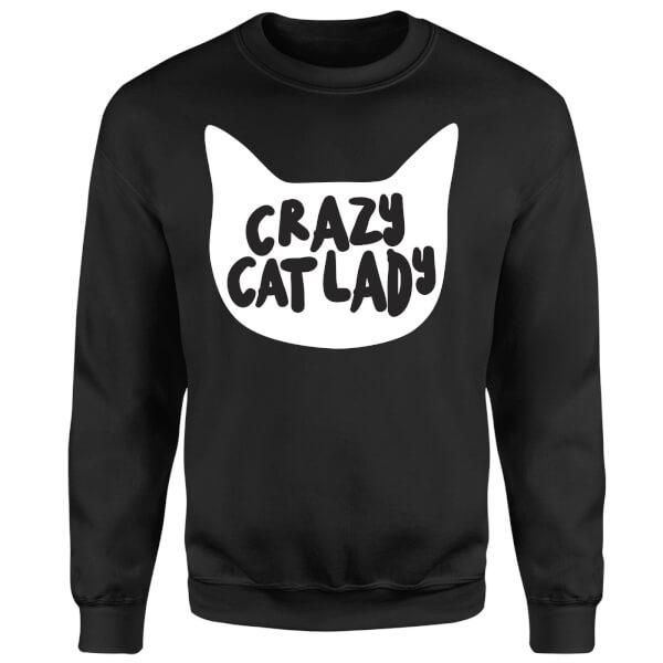 Crazy Cat Lady Sweatshirt - Black