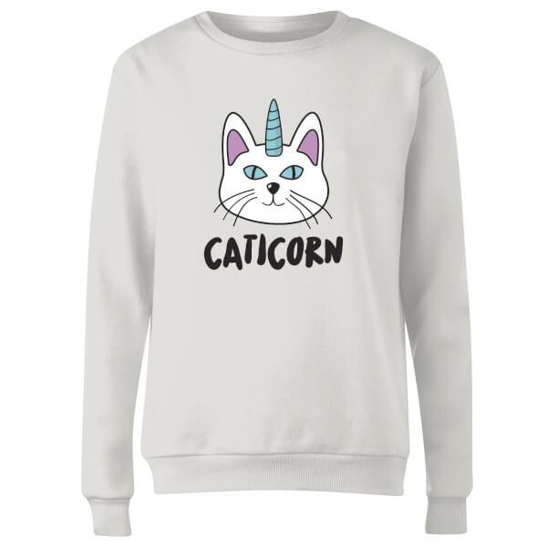 Caticorn Women's Sweatshirt - White
