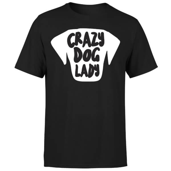Crazy Dog Lady T-Shirt - Black