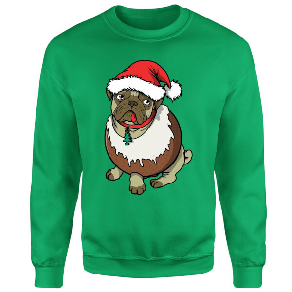 Christmas Puggin Sweatshirt - Kelly Green
