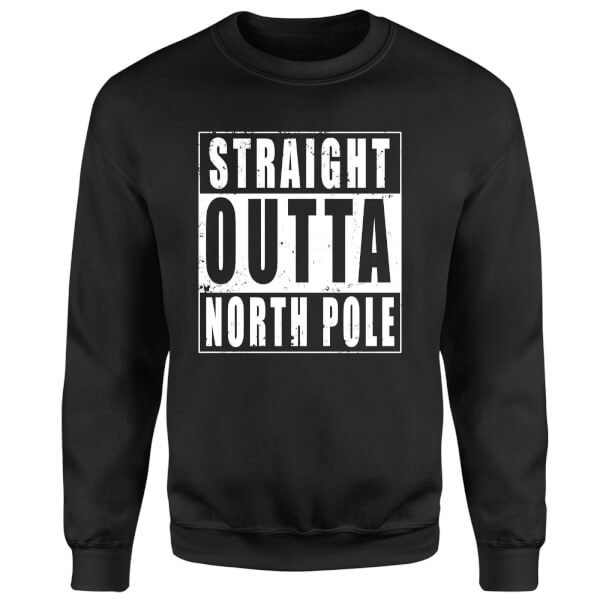 Straight Outta North Pole Sweatshirt - Black