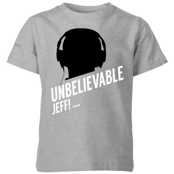 UNBELIEVABLE JEFF! Kids' T-Shirt - Grey