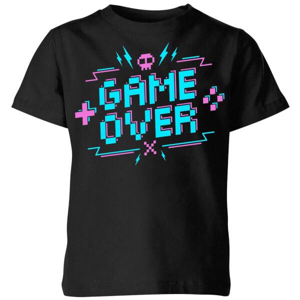 Game Over Gaming Kids' T-Shirt - Black