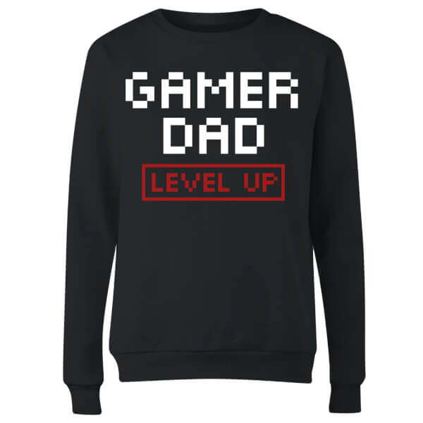 Gamer Dad Level Up Women's Sweatshirt - Black