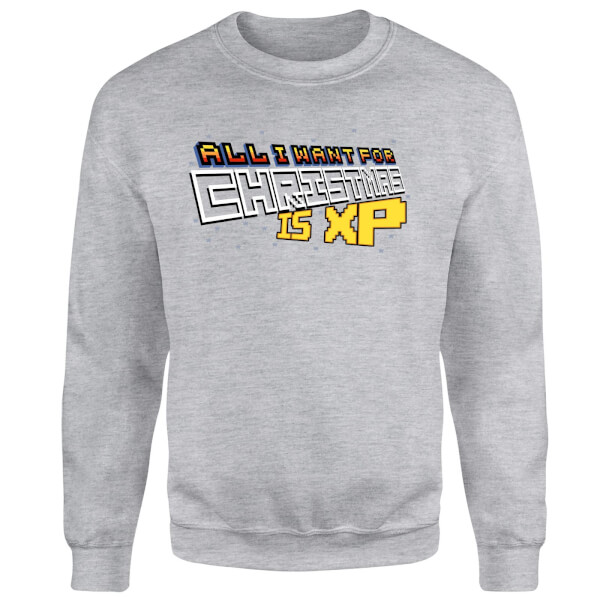 All I Want For Xmas Is XP Sweatshirt - Grey