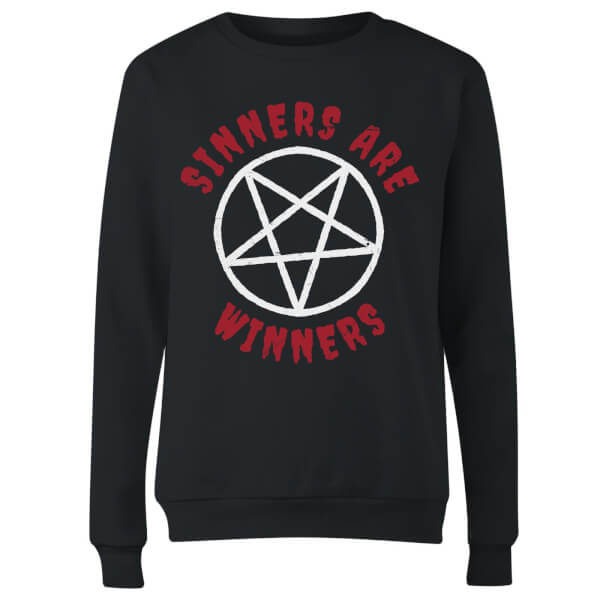 Sinners are Winners Women's Sweatshirt - Black