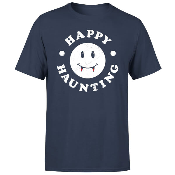 Happy Haunting T-Shirt - Navy