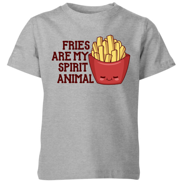 Fries Are My Spirit Animal Kids' T-Shirt - Grey