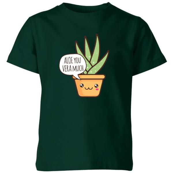 Aloe You Vera Much Kids' T-Shirt - Forest Green