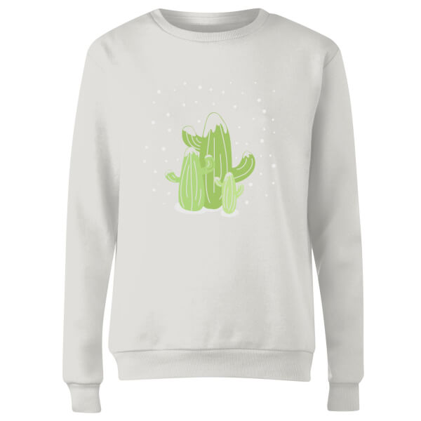 Cactus trio Women's Sweatshirt - White