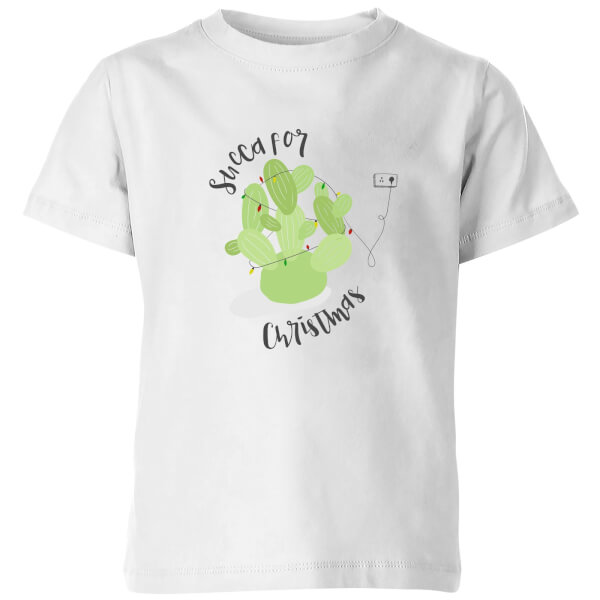 Succa For Christmas Kids' T-Shirt - White
