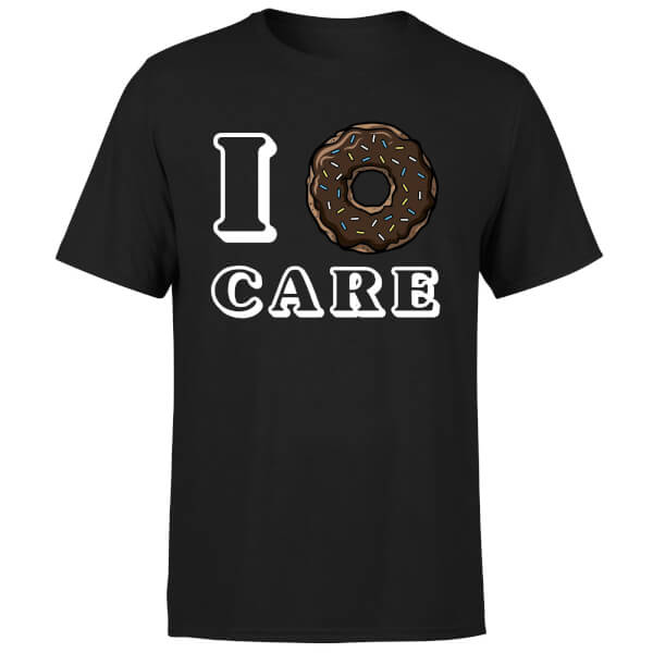 I Donut Care T-Shirt - Black