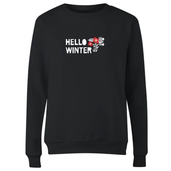 Hello Winter Women's Sweatshirt - Black