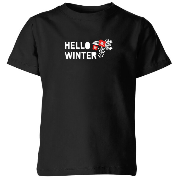 Hello Winter Kids' T-Shirt - Black