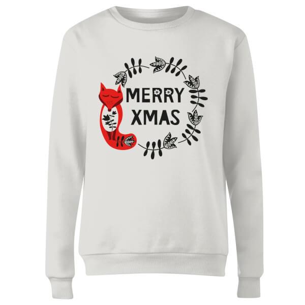 Merry Christmas Women's Sweatshirt - White