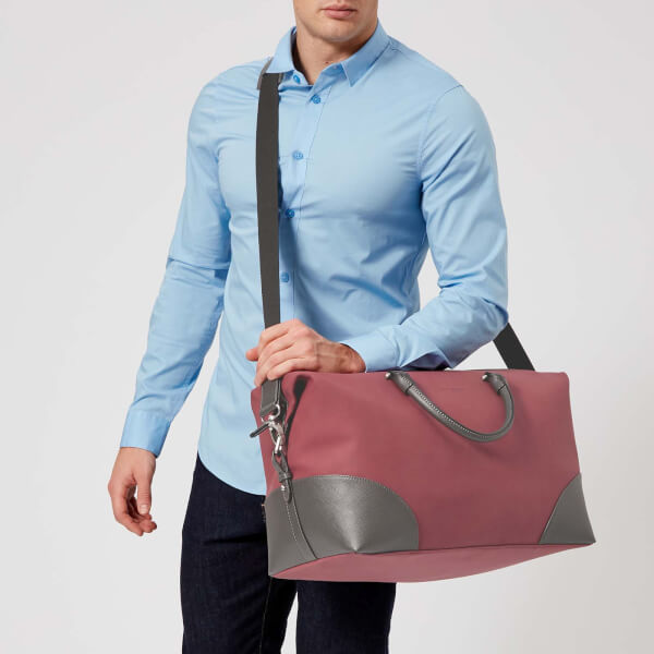 fb8b2aa4ce6c Ted Baker Men s Swipes Nubuck Holdall Bag - Red  Image 3