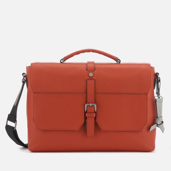 Ted Baker Men's Sandune Leather Messenger Bag - Dark Orange