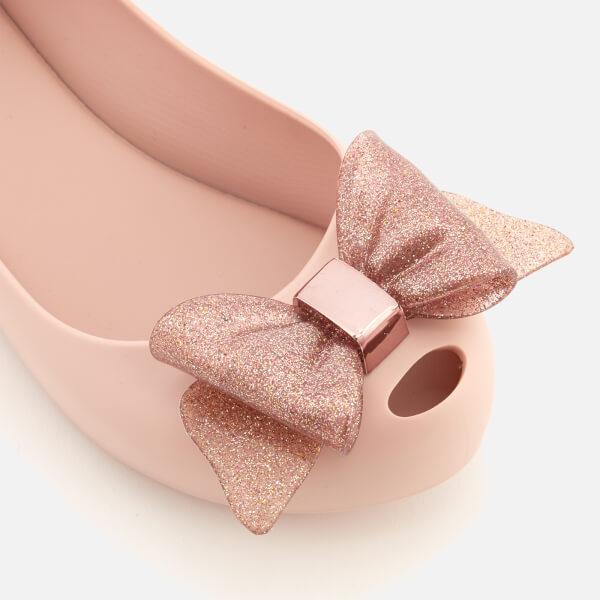 133018832820 Mini Melissa Kids  Ultragirl Sweet Bow Ballet Flats - Blush Glitter  Image 6