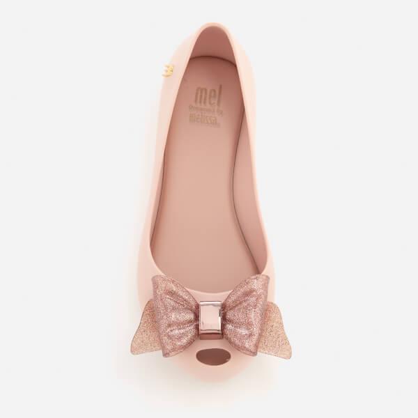 d35b5508d14f Mini Melissa Kids  Ultragirl Sweet Bow Ballet Flats - Blush Glitter  Image 3