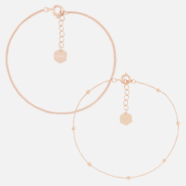 Cluse Women's Essentielle Set of Two Fine Bracelets - Rose Gold