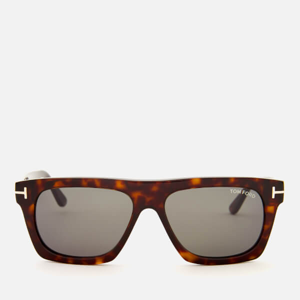 Tom Ford Men's Ernesto Square Frame Sunglasses - Shiny Black/Smoke