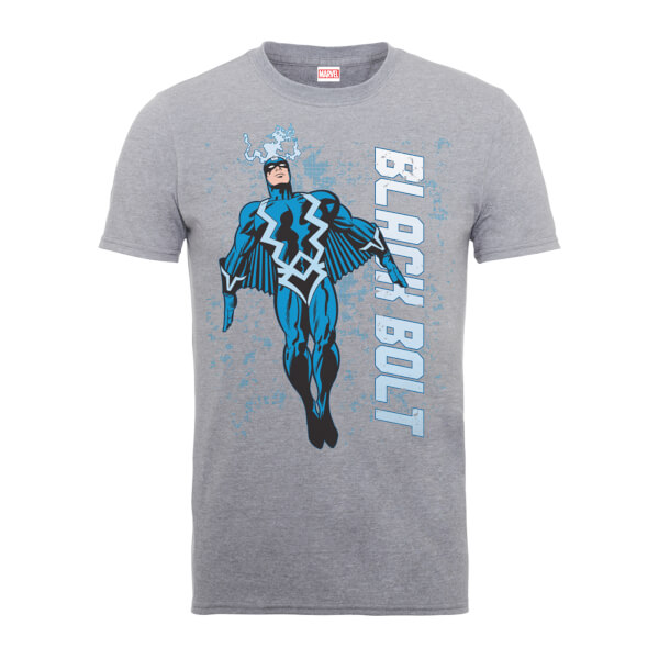 Marvel Comics Black Bolt Men's Grey T-Shirt