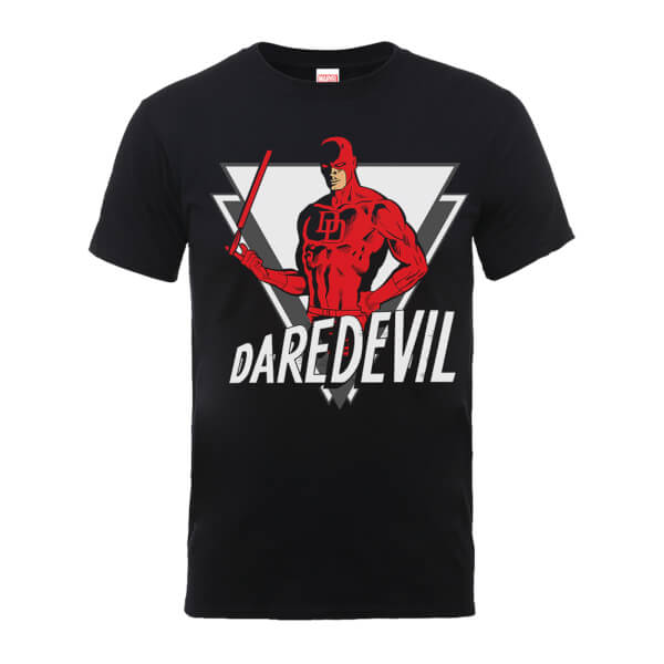 Marvel Comics Daredevil Triangle Men's Black T-Shirt