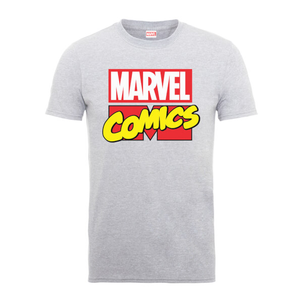Marvel Comics Main Logo Men's Grey T-Shirt