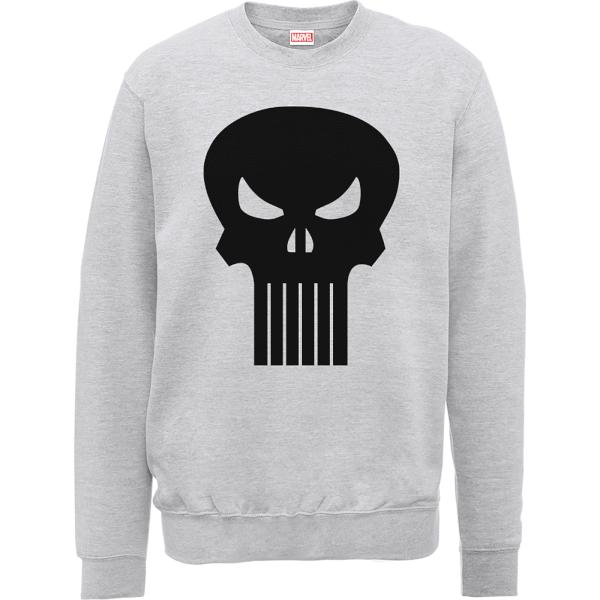 Marvel The Punisher Skull Logo Grey Men's Sweatshirt