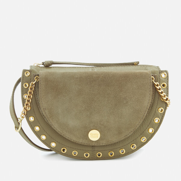See By Chloé Women's Suede Shoulder Bag - Safari Khaki