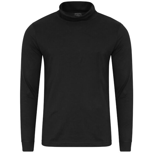 Kensington Eastside Men's Denbigh Roll Neck Long Sleeve Top - Black