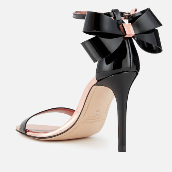 ad8d92ee577348 Ted Baker Women s Sandalo Leather Barely There Heeled Sandals - Black   Image 3