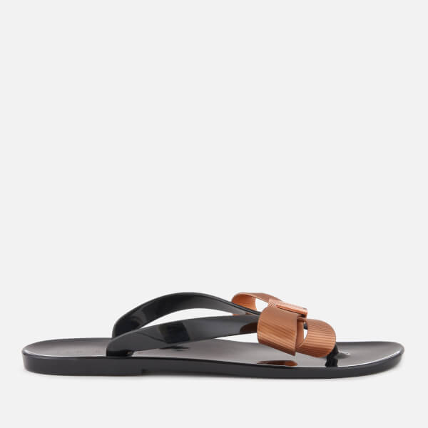 Ted Baker Women's Suszie Toe Post Flip Flops - Black/Rose Gold