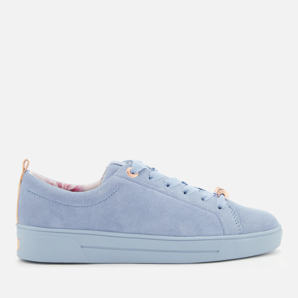 Ted Baker Women's Kelleis Suede Low Top Trainers - Light Blue