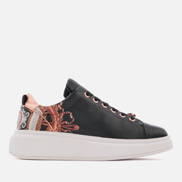 Ted Baker Women's Ailbe Leather Platform Trainers - Black Versailles
