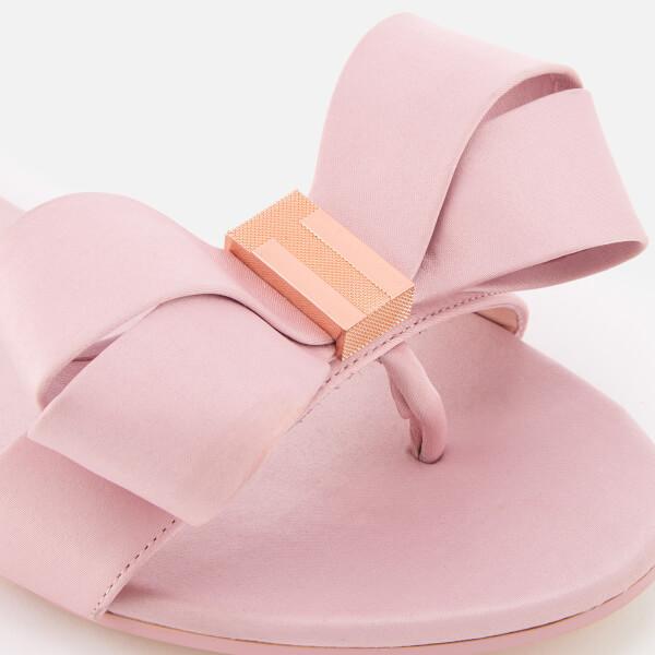 988e46278cc3 Ted Baker Women s Beauita Satin Bow Sandals - Light Pink  Image 4