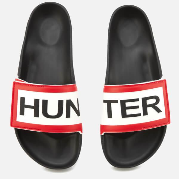 Hunter Men's Original Adjustable Logo Slide Sandals - Black