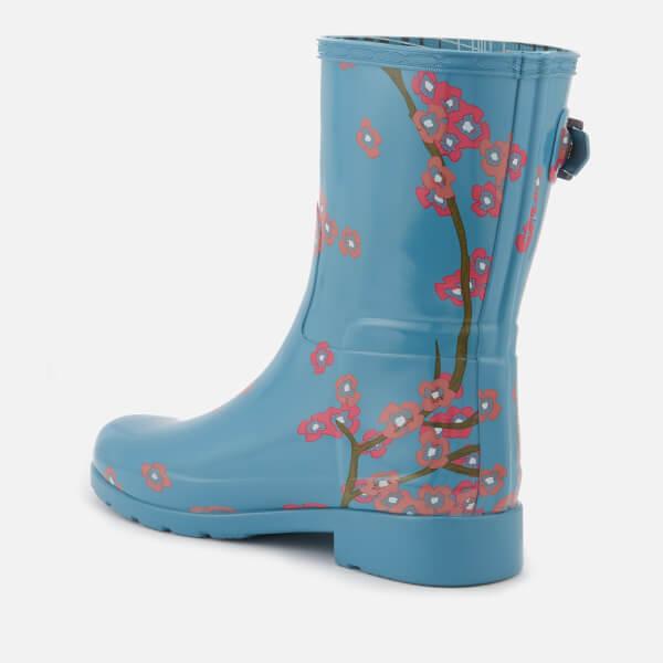 Hunter Women's Refined Blossom Print Short Wellies - Soft Pine Floral - UK 3 77eb0H