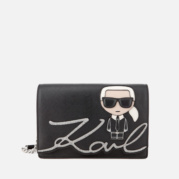 Karl Lagerfeld Women's K/Ikonik Shoulder Bag - Black