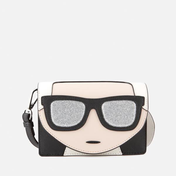 Karl Lagerfeld Women's K/Ikonik Mini Cross Body Bag - Black