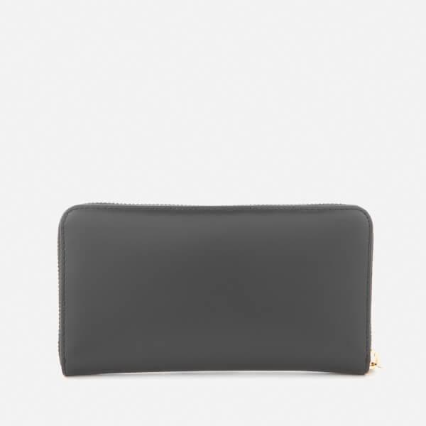 K / Porte-monnaie Zip Signature - Noir Karl Lagerfeld sDf7q