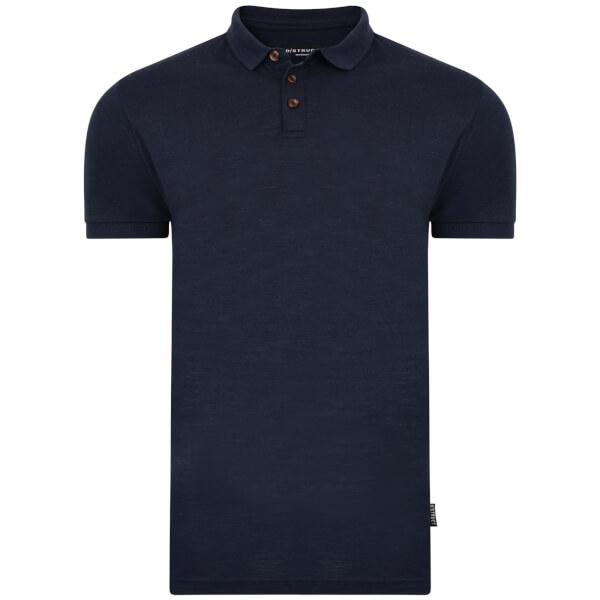 D-Struct Men's Slub Polo Shirt - Navy