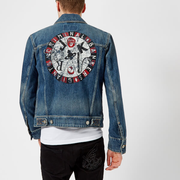 Vivienne Westwood Anglomania Men s New D Ace Jacket - Blue Denim  Image 5 39a85d734